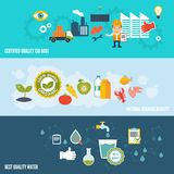 Quality control banners Royalty Free Stock Photo