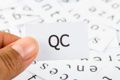 Quality control closeup Stock Image