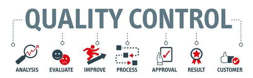 Quality Control Concept - Vector Illustration royalty free stock images