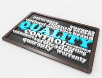 Quality Control 3d wordclouds concept Royalty Free Stock Photography