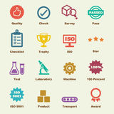 Quality control elements. Vector infographic icons Stock Image