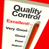 Quality Control Excellent Monitor. Showing High Satisfaction And Perfection Stock Photography
