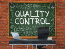 Quality Control - Hand Drawn on Green Chalkboard. Stock Photography