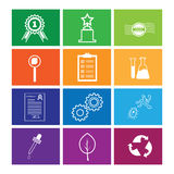 Quality control icon set windows flat line Royalty Free Stock Photo