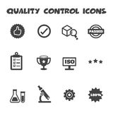 Quality control icons. Mono vector symbols Stock Photos