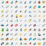 100 quality control icons set, isometric 3d style Stock Images