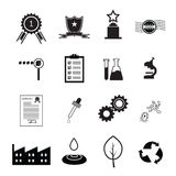 Quality control icons set Stock Photography