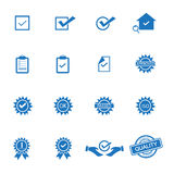 Quality control icons vector. Background royalty free illustration
