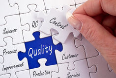 Quality control jigsaw Royalty Free Stock Image