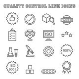Quality control line icons Royalty Free Stock Image
