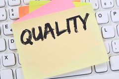 Quality control management success business concept successful n Royalty Free Stock Images