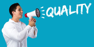 Quality control management success business concept successful y Stock Photo