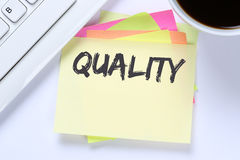 Quality control management success business successful desk Royalty Free Stock Images
