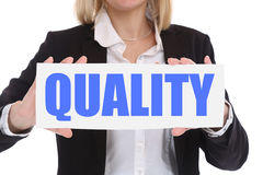 Quality control management success businesswoman business concep Stock Images