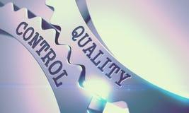 Quality Control - Mechanism of Metallic Cogwheels . 3D . stock photo