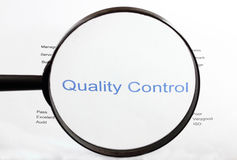 Quality control. Monitoring quality control of the the product Royalty Free Stock Image