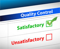 Quality control Results business paperwork Stock Images
