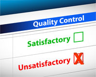 Quality control Results business paperwork. Illustration design graphic Stock Photo
