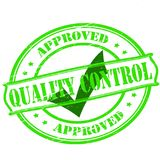 Quality control. Rubber stamp with text quality control inside,  illustration Stock Image