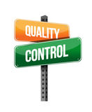 Quality control sign Stock Images