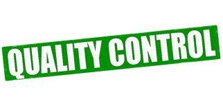 Quality control. Stamp with text quality control inside,  illustration Royalty Free Stock Image