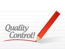 Quality control text written message illustration Royalty Free Stock Images
