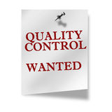 Quality control wanted Stock Photos
