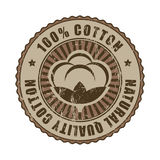 100% Quality Cotton label or stamp. Royalty Free Stock Images