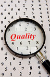 Quality counts. Logo or branding ? Royalty Free Stock Images