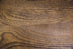 Quality dark oak wooden texture. High quality close up photo of dark wood or oak tree plank: close up view on dark chocolate wooden surface. Wood is usually used Stock Images