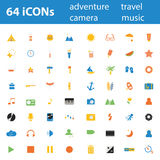 64 Quality design modern  illustration icons set. Royalty Free Stock Images