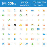 64 Quality design modern vector illustration icons set. Royalty Free Stock Image