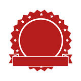 Quality emblem isolated icon. Illustration design Stock Images
