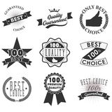 Quality emblems and labels Stock Photo