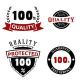 Quality emblems and labels Stock Photography
