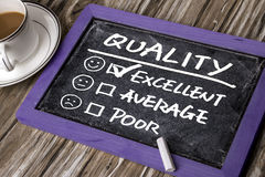Quality evaluation concept Stock Images