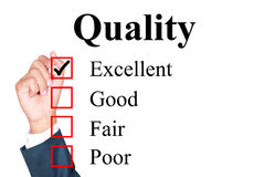 Quality evaluation form Stock Images