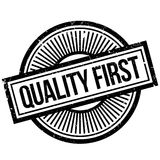 Quality First rubber stamp Stock Photos