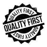 Quality First rubber stamp Stock Image