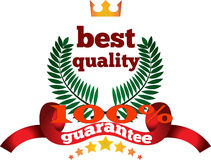Quality and a full guarantee mark Royalty Free Stock Photo