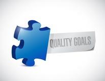 Quality goals puzzle pieces illustration design Stock Images