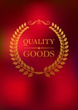 Quality goods emblem Royalty Free Stock Photography