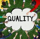 Quality Grade Level Guarantee Value Status Concept stock photography