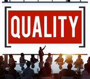 Quality Grade Level Guarantee Value Status Concept Stock Photo