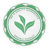 100% quality guarantee guarantee media stamp isolated on white. 100% quality guarantee stamp ribbon and badge style design element on white background Royalty Free Stock Image