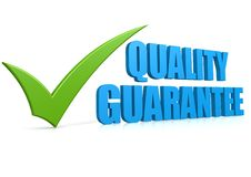 Quality guarantee Royalty Free Stock Photography