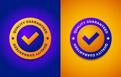 Quality guarantee label, round stamp for high quality products. Vector illustration Stock Photos