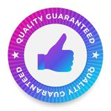 Quality guarantee label, round stamp for high quality products. Vector illustration Royalty Free Stock Images