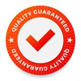 Quality guarantee label, round stamp for high quality products. Vector illustration Royalty Free Stock Photo