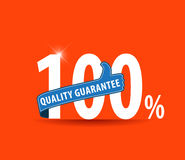 100% quality Guarantee label/ sign/ icon. 100% quality Guarantee sign, icon.-eps10 royalty free illustration
